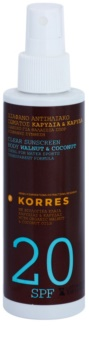 Korres Walnut & Coconut  Clear Non-Greasy Body Sunscreen SPF 20