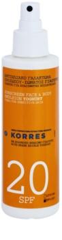 Korres Yoghurt emulsão bronzeadora SPF 20