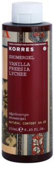 Korres Vanilla, Freesia & Lychee Duschgel für Damen 250 ml