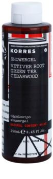 Korres Vetiver Root, Green Tea & Cedarwood gel de ducha para hombre 250 ml
