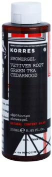 Korres Vetiver Root, Green Tea & Cedarwood gel doccia per uomo 250 ml