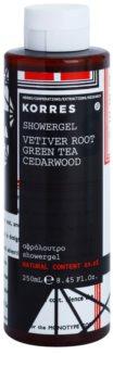 Korres Vetiver Root, Green Tea & Cedarwood sprchový gel pro muže 250 ml