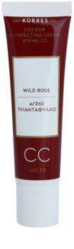 Korres Wild Rose rozjasňujúci CC krém SPF 30