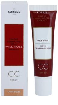 Korres Wild Rose crema CC iluminatoare SPF 30