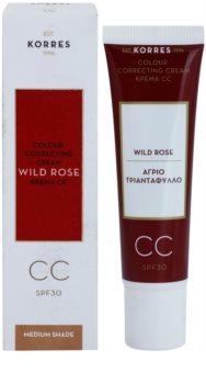 Korres Wild Rose crema CC con efecto luminoso  SPF 30