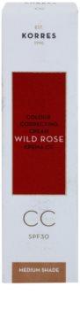 Korres Wild Rose освітлюючий СС крем SPF 30