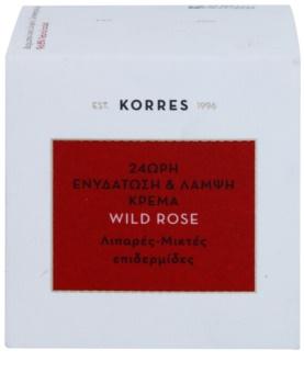 Korres Face Wild Rose crème hydratante et illuminatrice pour peaux grasses et mixtes