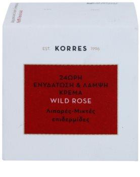 Korres Wild Rose crema hidratante iluminadora para pieles grasas y mixtas