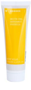 Korres White Tea, Bergamot & Freesia tělové mléko unisex 125 ml