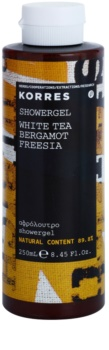 Korres White Tea, Bergamot & Freesia sprchový gél unisex 250 ml