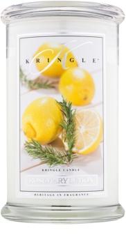 Kringle Candle Rosemary Lemon dišeča sveča  624 g