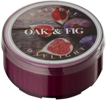 Kringle Candle Oak & Fig čajová svíčka 35 g