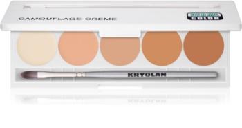 Kryolan Dermacolor Camouflage System paleta de correctores en crema de alta cobertura 5 colores