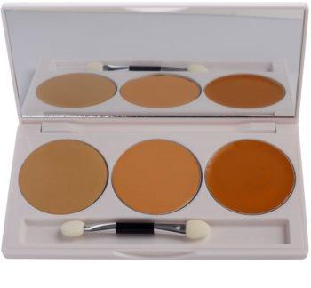 Kryolan Dermacolor Camouflage System paleta 3 korektorjev z ogledalom in aplikatorjem