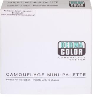 Kryolan Dermacolor Camouflage System mini paleta krémových korektorů s vysokým krytím 16 barev