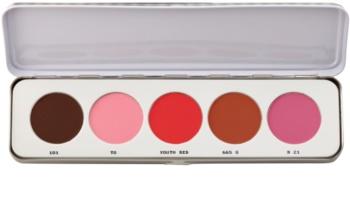 Kryolan Basic Face & Body 5 színű arcpír paletta