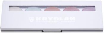Kryolan Basic Face & Body paleta rozjasňovačů na obličej i tělo 5 barev se zrcátkem a aplikátorem