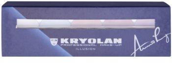 Kryolan Basic Face & Body палетка освітлювачів для обличчя та тіла 5 кольорів з дзеркальцем та аплікатором