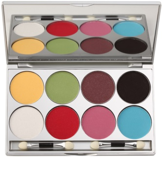 Kryolan Basic Eyes paleta očních stínů se třpytkami 8 barev