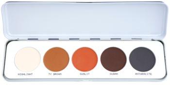 Kryolan Basic Eyes palette de fards à paupières 5 couleurs