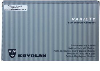 Kryolan Basic Eyes Paleta ochi umbre cu 18 nuante