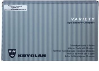 Kryolan Basic Eyes paleta senčil za oči 18 barv
