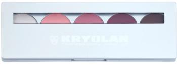 Kryolan Basic Eyes paleta senčil za oči 5 barv z ogledalom in aplikatorjem