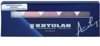 Kryolan Basic Eyes палітра тіней для повік 5 відтінків з дзеркальцем та аплікатором