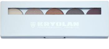 Kryolan Basic Eyes 5 színt tartalmazó szemhéjfesték paletta  tükörrel és aplikátorral