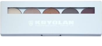 Kryolan Basic Eyes Paleta ochi umbre cu 5 nuante cu oglindă si aplicator