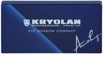 Kryolan Basic Eyes paleta očných tieňov so zrkadielkom a aplikátorom