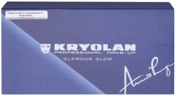 Kryolan Basic Eyes paletta szemhéjpúder 8 szín tükörrel és aplikátorral