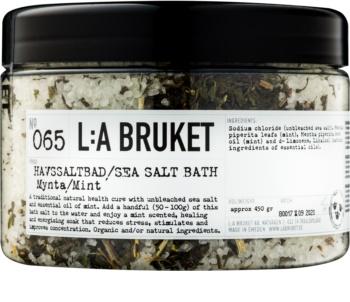 L:A Bruket Spa soľ do kúpeľa s mätou priepornou