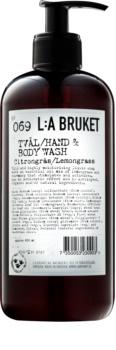 L:A Bruket Body folyékony szappan citromfűvel a kezekre és a testre