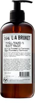 L:A Bruket Body Flüssigseife mit Salbei, Rosmarin und Lavendel für Hände und Körper