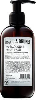 L:A Bruket Body рідке мило з лемонграссом для тіла та рук