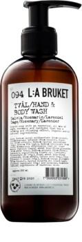 L:A Bruket Body течен сапун със салвия, розмарин и лавандула за ръце и тяло