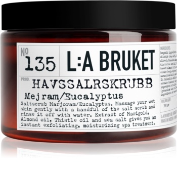 L:A Bruket Body exfoliant corporal cu măghiran și eucalipt