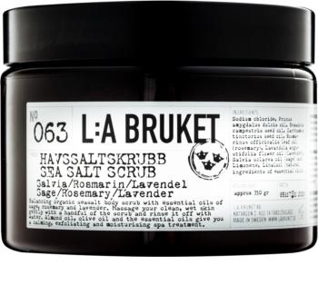 L:A Bruket Body peeling do ciała  z szałwią z rozmarynem i lawendą