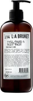 L:A Bruket Body Geranium Liquid Soap for Hands and Body