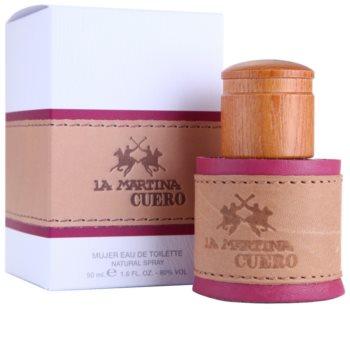 La Martina Cuero Mujer eau de toilette pentru femei 50 ml