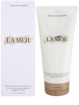 La Mer Sun leite autobronzeador para corpo e rosto
