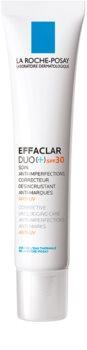 La Roche-Posay Effaclar DUO (+) kijavítása és megújítása az aknés bőr apró hibáit SPF 30