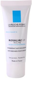 La Roche-Posay Rosaliac UV Riche nährende und beruhigende Creme für empfindliche Haut mit Neigung zum Erröten LSF 15