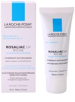 La Roche-Posay Rosaliac UV Riche hranilna pomirjajoča krema za občutljivo kožo, nagnjeno k rdečici SPF 15