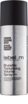 label.m Complete tvarujúci objemový sprej pre hnedé a  tmavé odtiene vlasov