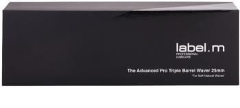 label.m Electrical The Advanced Pro Triple Barrel Waver 25 mm tripla hullámú hajsütővas