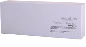 label.m Electrical Titanium Pro-50 White Hair Straightener