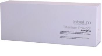 label.m Electrical Titanium Pro-50 White žehlička na vlasy