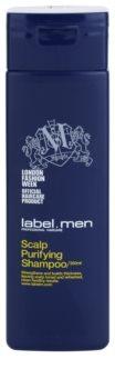 label.m Men champô de limpeza para cabelo e couro cabeludo